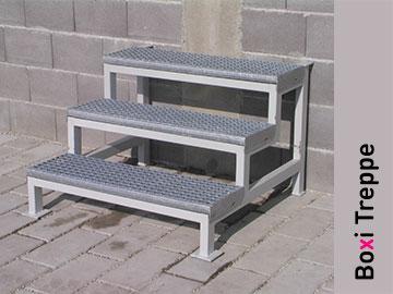 Boxi-Abwassertank-Treppe